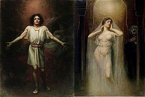 Parsifal - Parsifal and Kundry,  by Rogelio de Egusquiza