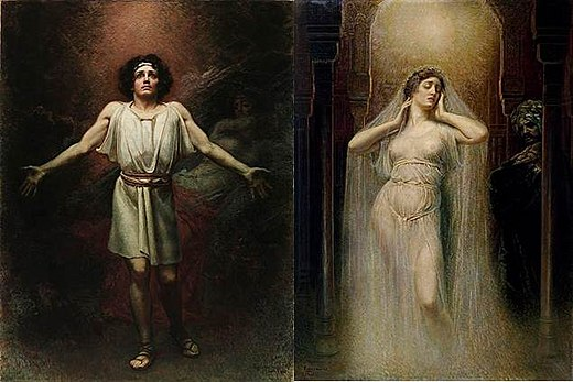 Parsifal and Kundry, two paintings by Rogelio de Egusquiza, 1910 and 1906 Egusquiza-Parsifal2.jpg