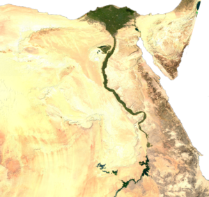 Climate of Egypt - Satellite map