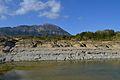 El Montgó i bassa al riu Gorgos.JPG