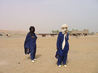 Fula people - Fulani herders in the arid region of Gao, Northern Mali
