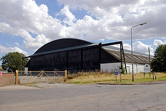 RAF Elsham Wolds - Surviving J-Type hangar
