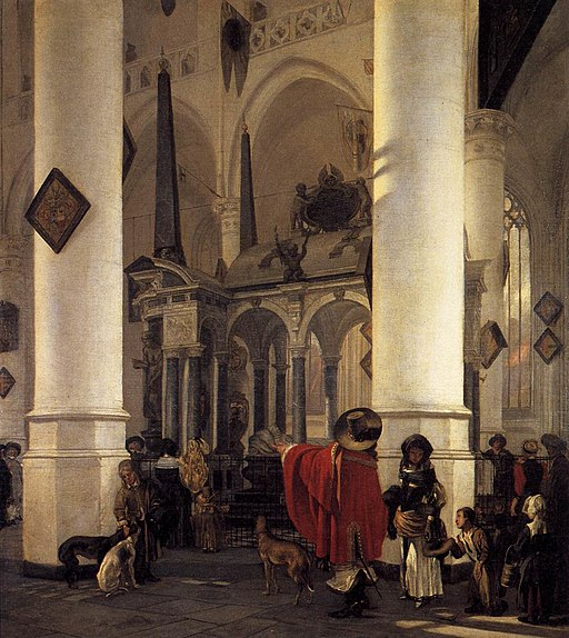 Emanuel de Witte - View of the Tomb of William the Silent in the New Church in Delft - WGA25806