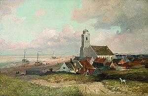 Katwijk aan Zee - Emil Neumann (1884): Gezicht op Katwijk, Katwijk Museum.
