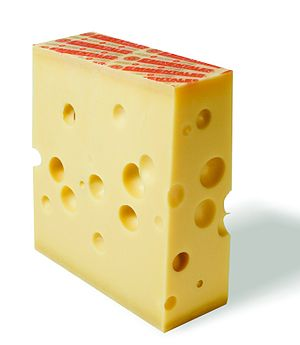 Cheese ripening - Emmental with eyes.  Emmental tastes sweeter due to proline.