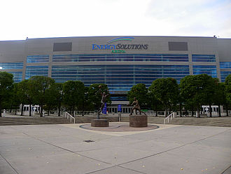 Vivint Smart Home Arena - The exterior of the arena (then known as EnergySolutions Arena) in 2009.
