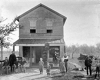 English Lake, Indiana - English Lake Saloon, circa 1892