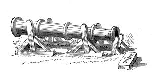 English cannon - English cannon used at the Battle of Crécy.