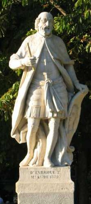 Henry II of Castile - Statue of Henry II at the Royal Palace of Madrid.