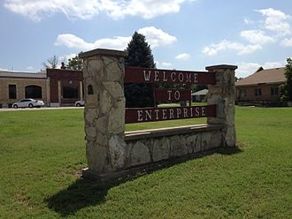 Enterprise, Kansas - Image: Enterprise Kansas Sign 1