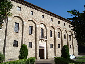 Abbey of Saint Scholastica, Subiaco - The monastery entrance.