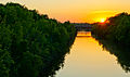 Erie Canal at sunset by James Bates.jpg