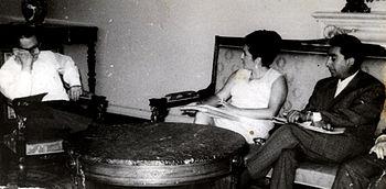 Ernesto Araneda con Salvador Allende.