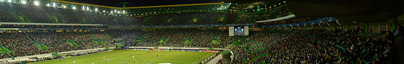 Sporting playing against German club Schalke 04, in a UEFA Champions League match