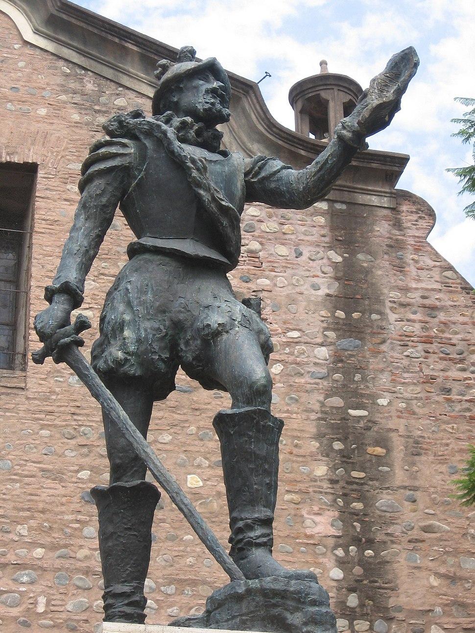Estatua de Cabrera, detalle