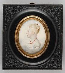 Portretminiatuur van Louise van Hogendorp