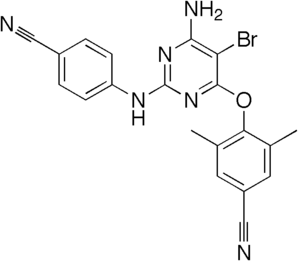 Diarylpyrimidines - Chemical structure of etravirine (Intelence)