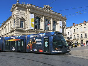 EuroBasket 2015 - Tram painted to promote the EuroBasket 2015 in Montpellier