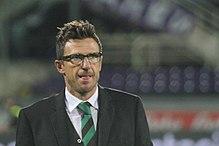 L'allenatore Eusebio Di Francesco ha guidato il Sassuolo, a metà degli anni 2010, dalla Serie B alla qualificazione in Europa League.
