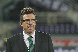 U.S. Sassuolo Calcio - Eusebio Di Francesco, manager of the historic promotion to Serie A for the Neroverdi in 2014.