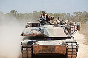 Exercise Gold Eagle smooth ride for Aussie, Marine tanks 130914-M-AL626-0138