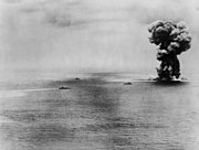 Explosion of the Japanese battleship Yamato on 7 April 1945 (80-G-413914)
