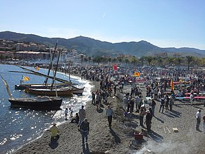 """Banyuls-sur-Mer - """"Fête des Vendanges"""", wine festival held on the beach each year in October"""