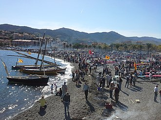 "Banyuls-sur-Mer - ""Fête des Vendanges"", wine festival held on the beach each year in October"