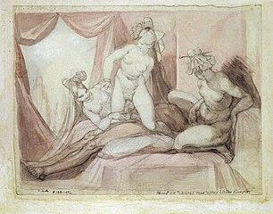 Symplegma eines Mannes mit drei Frauen