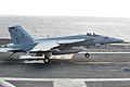 F-18E of VFA-86 landing on USS Ronald Reagan (CVN-76) 2013.JPG