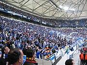 Portos fans fejrer sejren på Arena AufSchalke