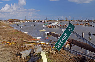 Hurricane Rita - Holly Beach, a town along the Gulf Coast completely destroyed by Rita