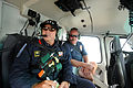 FEMA - 38985 - FEMA worker with Galveston Fire on helicopter flight over Galveston Island, Texas.jpg