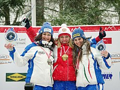 FIL European Luge Natural Track Championships 2010 - Women's Singles Prize Giving Ceremony.jpg