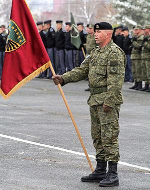 Kosovo Security Force - Kosovo Security Force's Standard-bearer