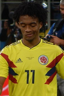 58f2ba7d6a0 FWC 2018 - Round of 16 - COL v ENG - Photo 100 (cropped). Cuadrado playing  for Colombia at the 2018 FIFA ...
