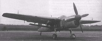 Fairey Barracuda - A Barracuda Mk. V; notice the squared off wing tips and the enlarged radiator and spinner for the Griffon engine. The lack of the larger fin and wing radar pod suggests that this is the prototype.
