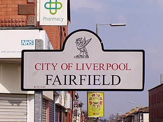 Fairfield, Liverpool - Image: Fairfield, Liverpool Sign