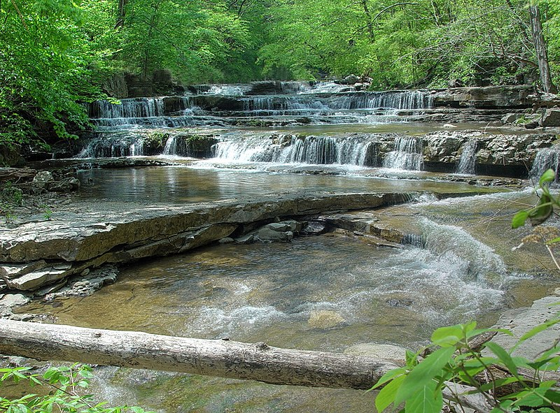 Falls in Walls of Jericho Canyon, a place in northern Alabama