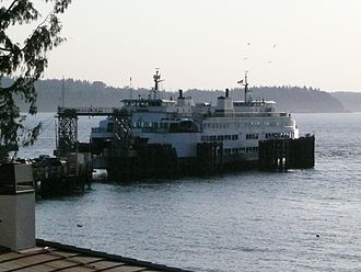 Fauntleroy, Seattle - Fauntleroy Ferry Terminal as seen from Fauntleroy Way SW