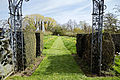 Feeringbury Manor garden path from gazebo, Feering Essex England.jpg