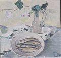 Felix Esterl - Stillleben mit Fischen und Blumen in Vase - 1929.jpeg