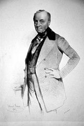 Ferdinand Georg Waldmüller, Lithographie von Eduard Kaiser, 1847. (Quelle: Wikimedia)