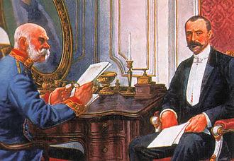 István Tisza - István Tisza (right) with Emperor-King Francis Joseph
