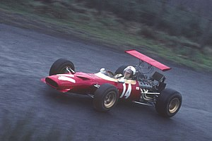 Derek Bell (racing driver) - Derek Bell racing a Formula 2 Ferrari 166 Dino at the Nürburgring in 1969