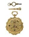 Fickur med två urnycklar, 1840-tal - Hallwylska museet - 109947.tif