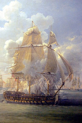 HMS Hercule (1798) - Image: Fight of the Poursuivante mp 3h 9426