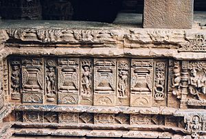 Koppal district - Figure sculpture at Mahadeva Temple
