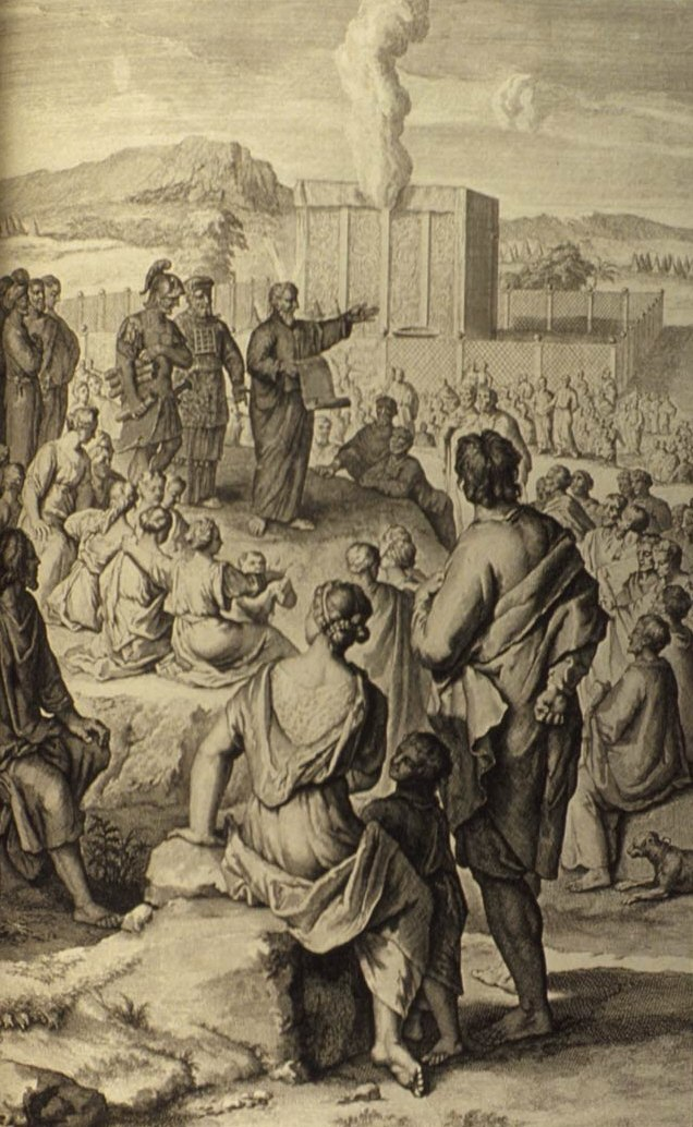 Figures Moses Promulgates the Law