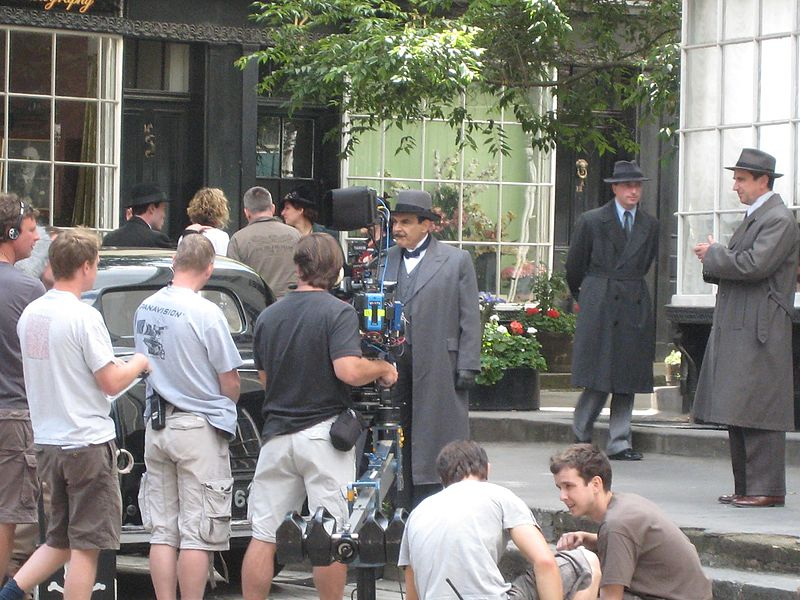 File:Filming Poirot in London-3740213028.jpg